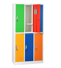 KD structure metal wardrobe clothes wardrobe cabinet