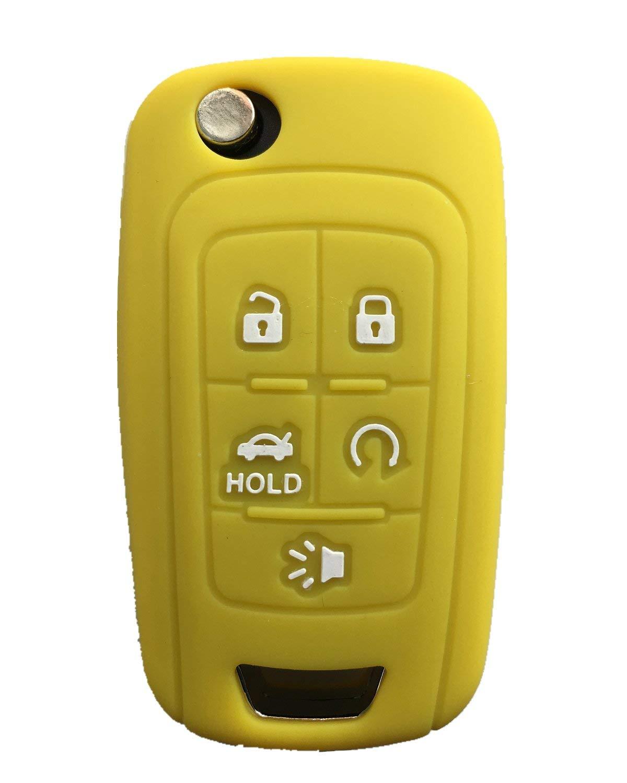 Rpkey Silicone Keyless Entry Remote Control Key Fob Cover Case protector For 4 button 2016 2017 Chevrolet Camaro Malibu HYQ4EA