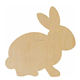 Cheap Price Easter Gifts Unfinished Plywood Bunny Blank