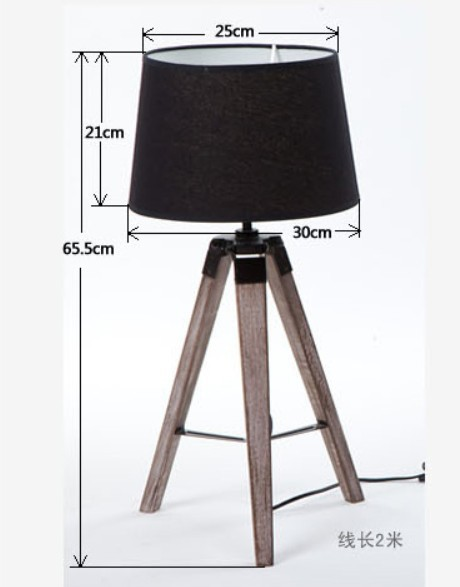 Get Quotations · Hot Selling European Ameircan High End Brief Tripod  Triangle Wooden Table Lamp,Desk Lamp