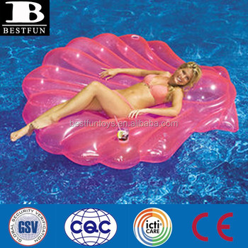 Inflatable Seashell Pool Float Chair Inflatable Seashell Water ...