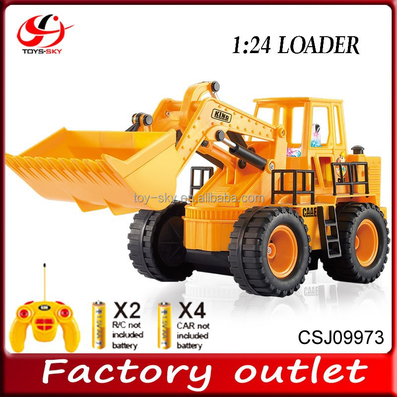 1:24 5 Channel RC construction toy trucks engineering vehicles RC Mini bulldozer truck
