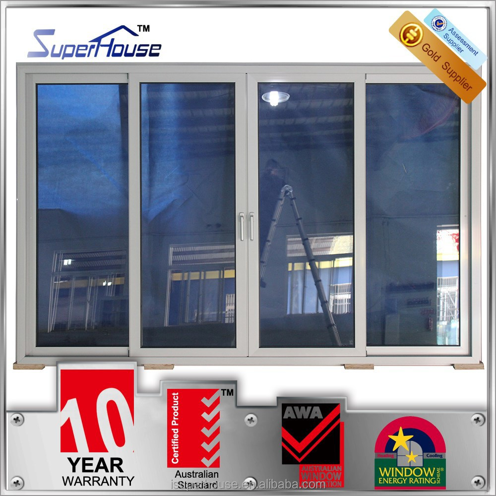 Australia Standard Double Glass Aluminum Shop Front Large Sliding ...