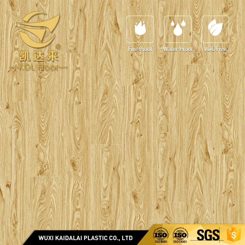 7mm WPC PVC Flameproof Vinyl Wood Texture Flooring