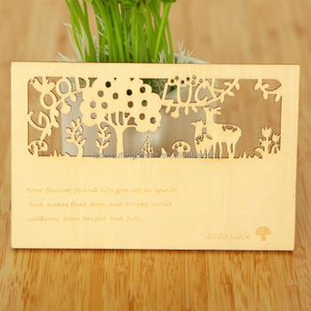 Australian style laser cut wood wedding invitation