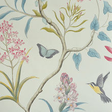 Рулон рулонных настенных обоев в американском стиле, винтажная Цветочная Нетканая 3D Бумага в виде бабочки, обои для спальни, птицы, наклейки...(Китай)