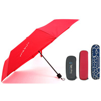Small lady mini 5 fold pocket umbrella with carrying case gift box