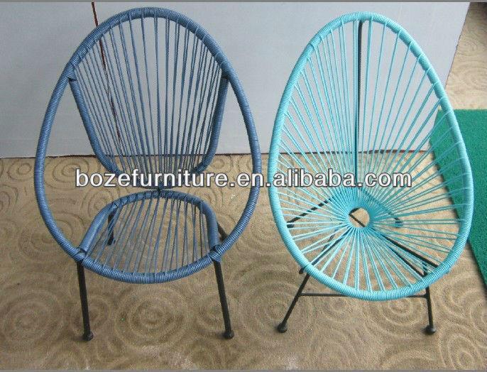 Metal pe acapulco rattan para ni os jard n silla silla for Silla huevo precio