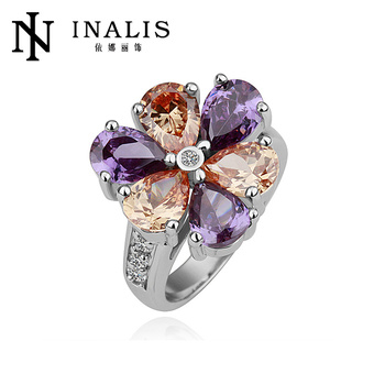Mixed Flower Shaped Wedding Ring In 18k Gold R110 - Buy Wedding Ring ...