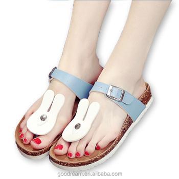 21183fcb0 AIMINYZ 2018 New Arrival Pinch Summer Slippers Women Outdoor Beach Shoe  Cute Rabbit Aminal Cartoon Comfort