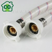 PVC Reinforced Pipe with brass insert and PP nuts, 2 years quality guarantee