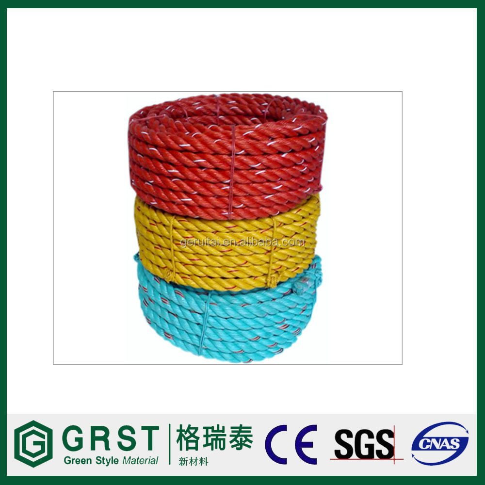 solid braided anchor rope with snap clips