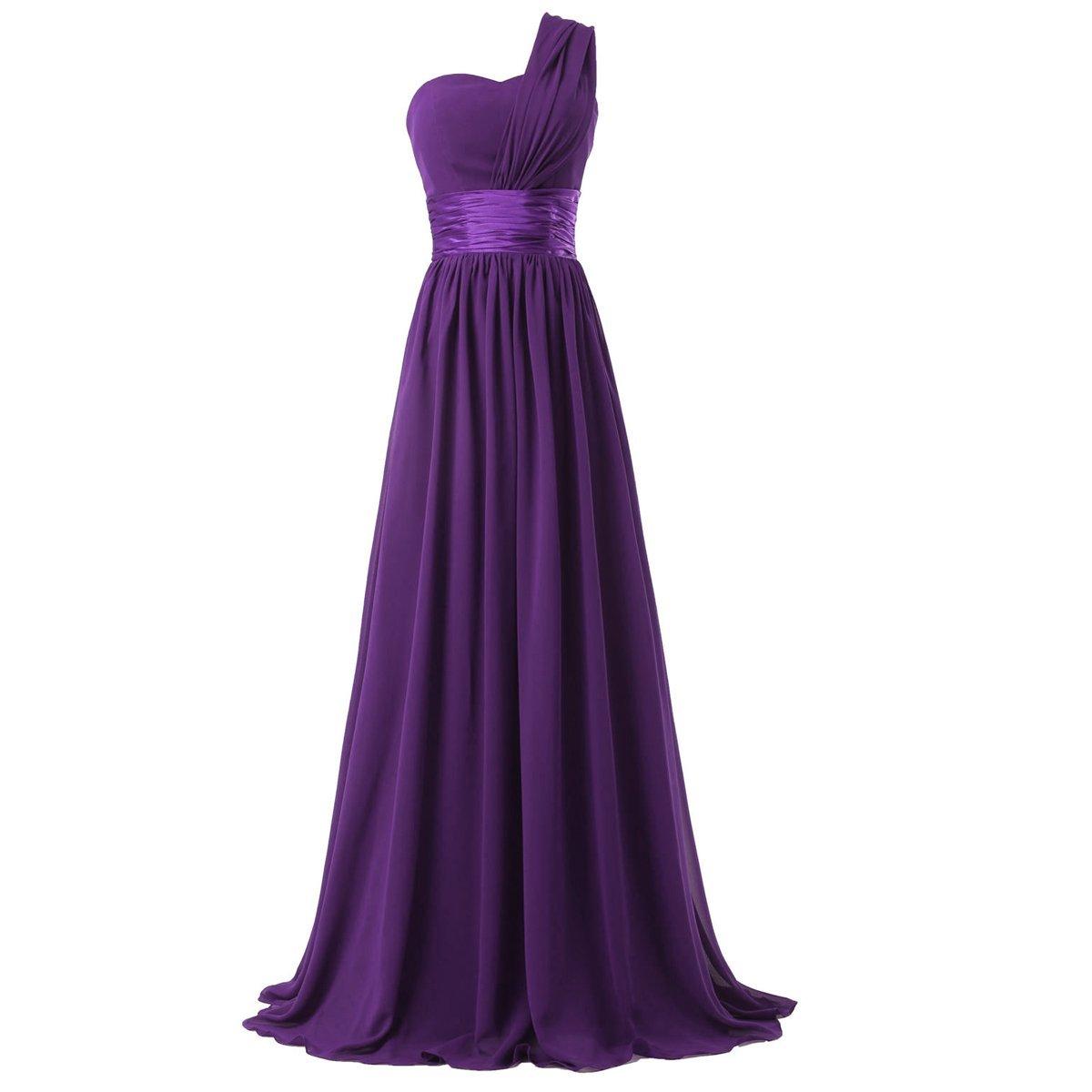 Women Royal Blue Purple Long Bridesmaid Dress New One