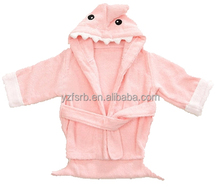 Animal Baby Gown Wrap Bath Hooded Towel Robe with Shark design