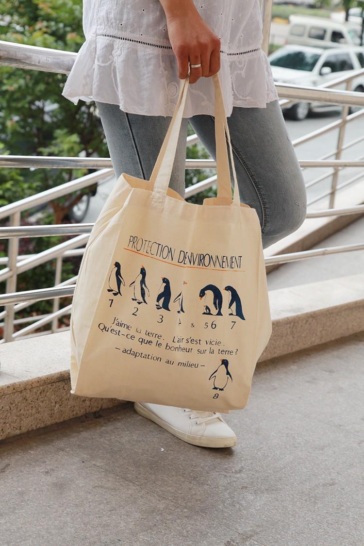 Wholesale Cotton Shopping Bags Black White Large Women Handbags ... cd3c3a500e8eb
