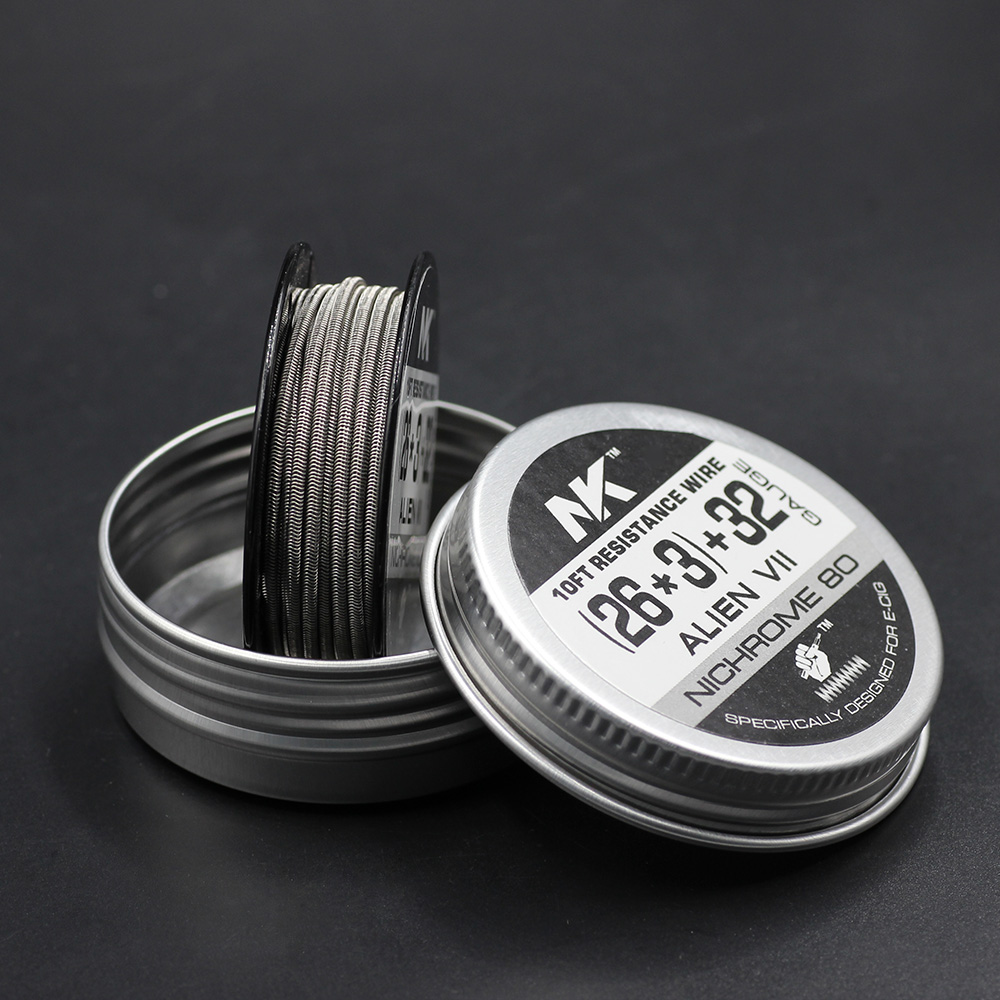 sheen nk nicrome vape ni80 fused alien clapton heating wire coil