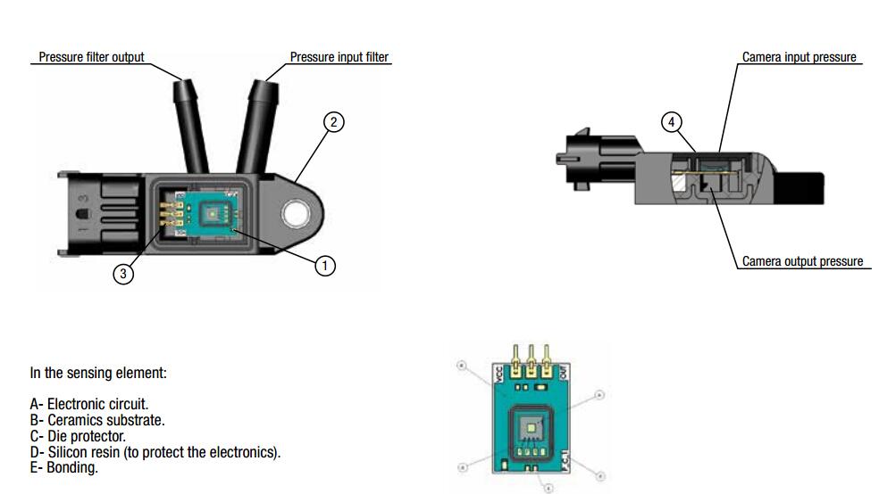 egr dpf differential exhaust pressure sensor 076906051a