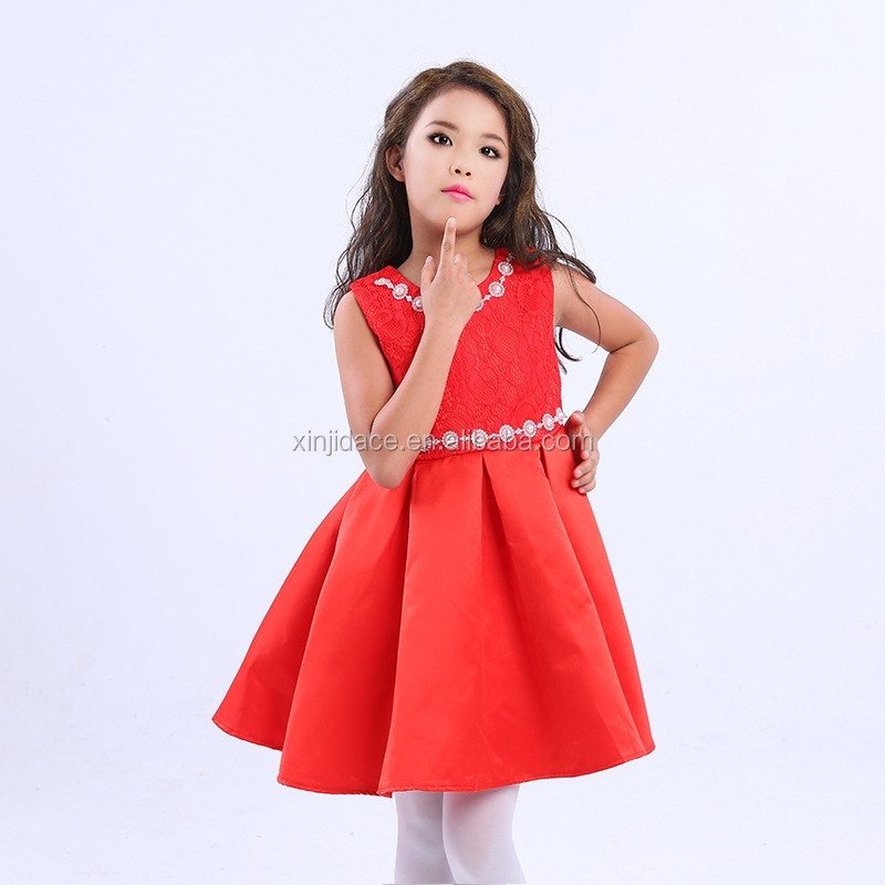 Red latest pakistani children frocks designs