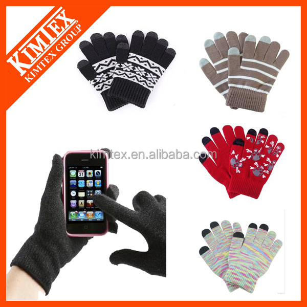 Custom winter magic texting touch screen gloves /mittens