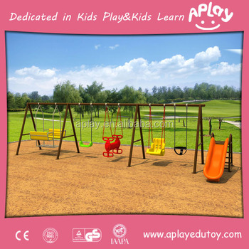 Outside Park Used Metal Play Structure Entertainment Equipment Outdoor Kids Playground Swing Set With Monkey Bar