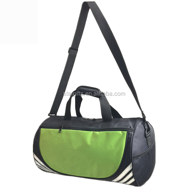 Light Weight Practical Gym Sport Green Stylish 600D Nylon Sling Travel Duffel Bag with Shoulder Strap