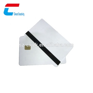 PVC Blank Chip ID Card With SLE4442/4428/5542/5528 Chip Inside
