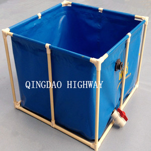 Household used collapsible PVC rain water collection tank, 1000 l water tank