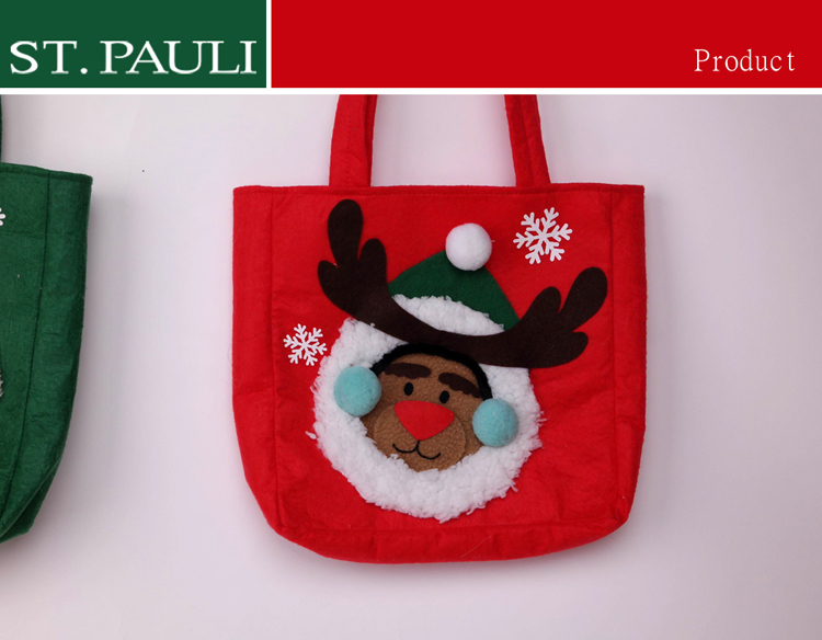 wholesale different types felt christmas gift bag with handles