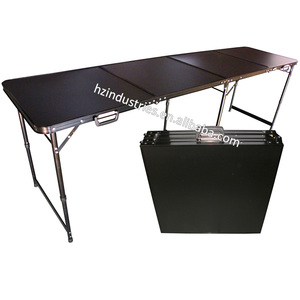 Portable Blank Black customizable beer pong table folding table