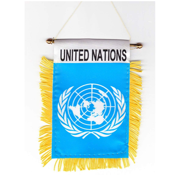 United Nations / UN Window Hanging Flag