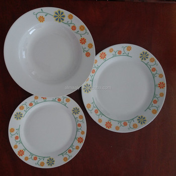 Ceramic Dinner Ware Set Dinnerware Eco Friendly Biodegradable Child Safety  Serving Porcelain Bamboo Fibertable Ware