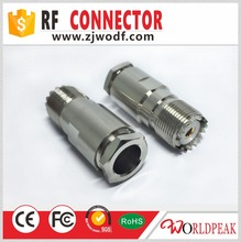 UHF Female connector Clamp type For LMR400 cable PL259