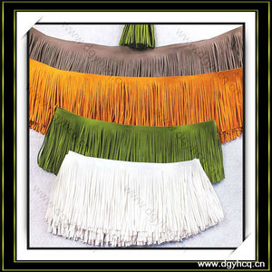 high quality microfiber suede leather fringe for shawl scarf shoes
