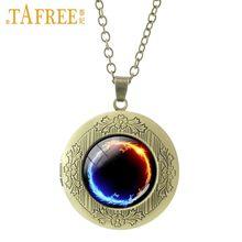 Модный медальон TAFREE, ожерелье с кулоном в виде кошачьего глаза, дракона, мандалы нашей леди, 2017, модные ювелирные изделия из стекла с драгоце...(Китай)