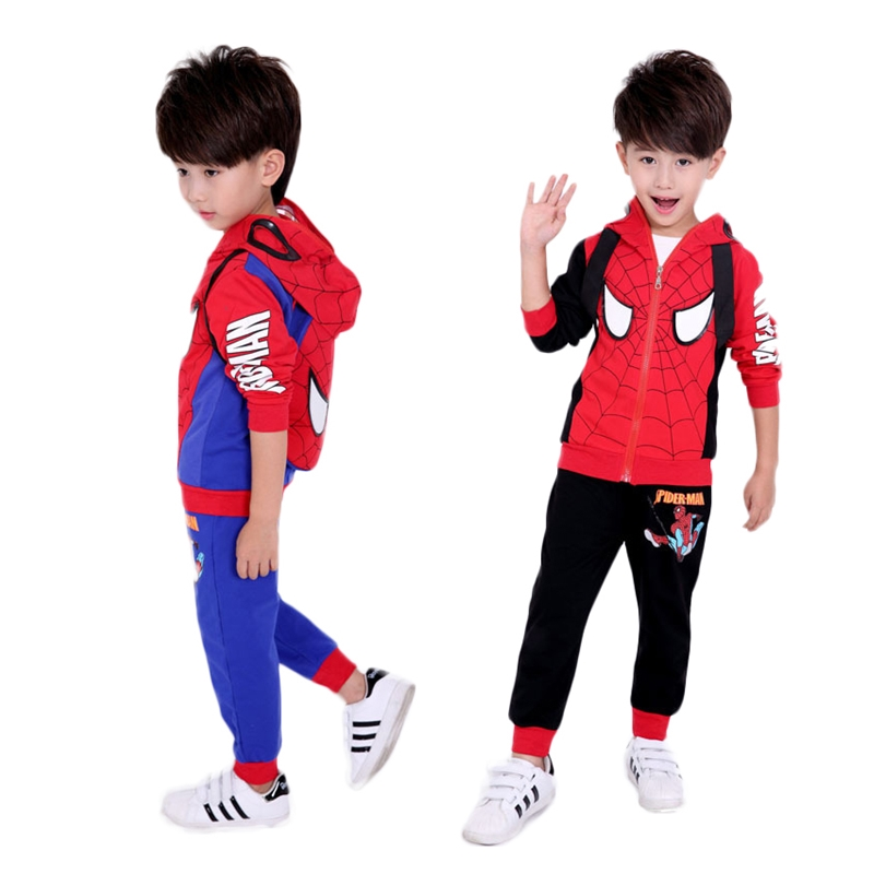 New Design Kid's Clothes Spider Man Pure Cotton Cool Children's Long Sleeves Hoodies фото