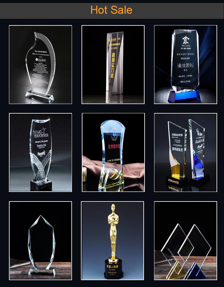 ขายส่งคริสตัลสีเขียว Star Trophy สำหรับรองการประมวลผลตัวอย่างถ้วยรางวัล