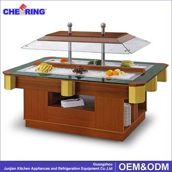 Wadah Hotel Restoran Countertop Salad