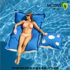 comfort outdoor pool floating bean bag bed
