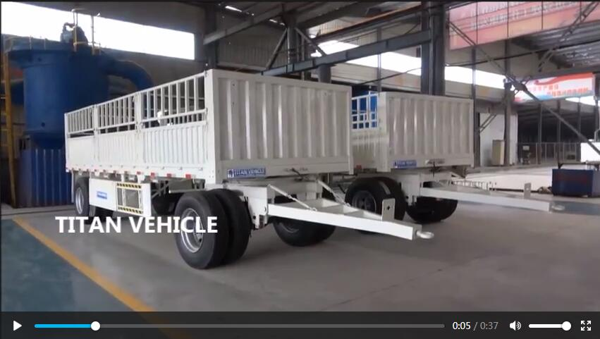 customized 40T Tri-axle 40ft durable dropside sidewall Curtain truck trailer side wall semi trailer for sale