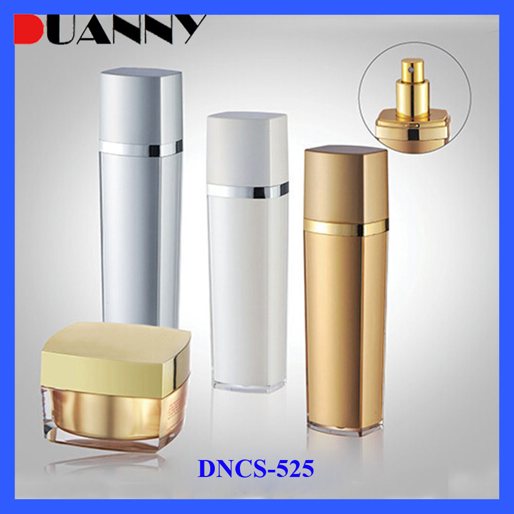 2016 New Design Luxury Acrylic Bottle And Jar Empty Cosmetic Packaging