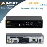Lateset DVB-S/S2 free to air satellite receiver no dish V8 Super iptv set top box support cccam cline powervu patch