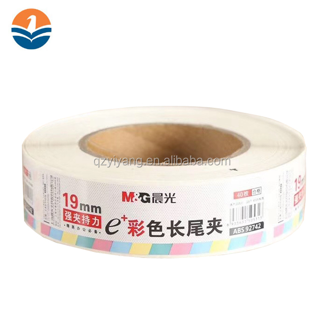 Adhesive Paper/Vinyl Label Sticker Roll Color Printing Custom Logo