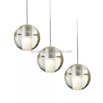 BocciDesgin Crystal Glass Ball Pendant Lighting