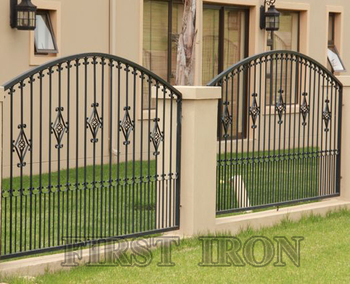 Iron Fence Panels >> Arch Top Wrought Iron Fence Panels For Security Buy Galvanized