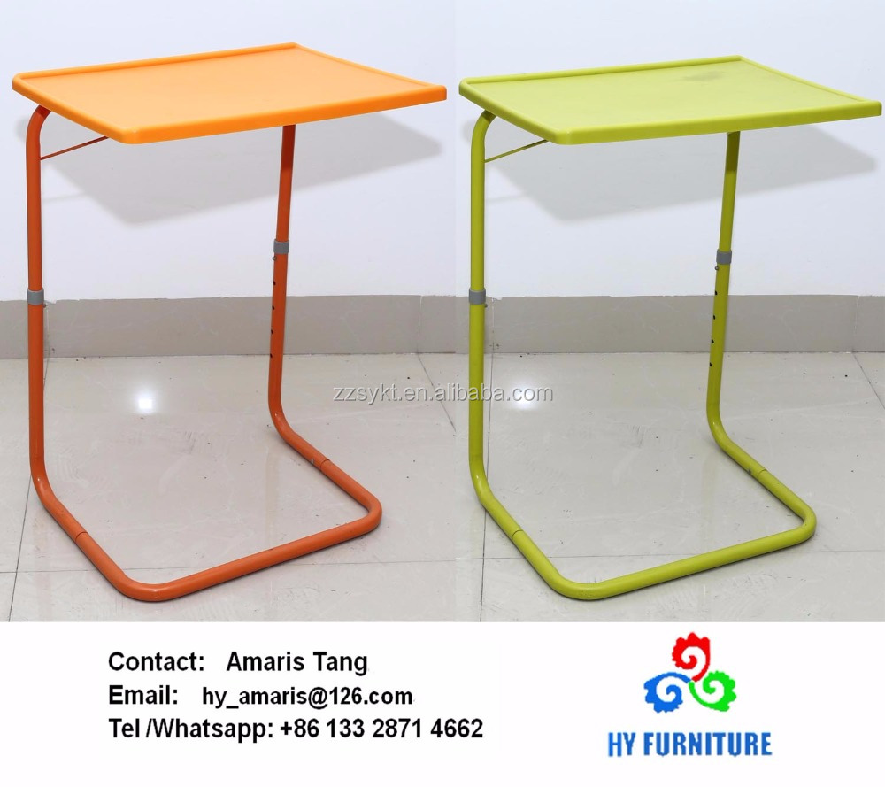 Adjustable Height Metal Base Sofa Side Table Tray Tables Wholesale   Buy  Sofa Side Tables,Bed Side Table,Tray Table For Sofa Product On Alibaba.com