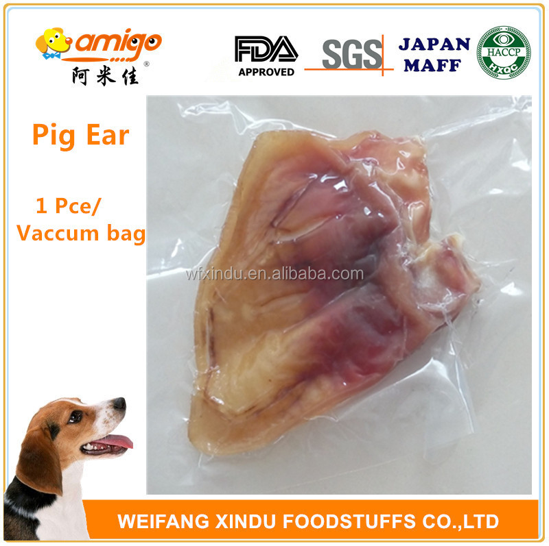 Vacuum Bag Pig Ear for Dog Treat with Wholesale Price