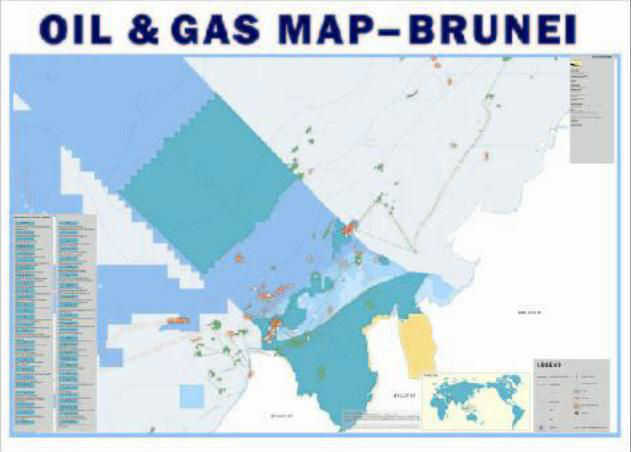 Brunei Oil Gas Map Buy Map Oil Gas Petrochemical Product on