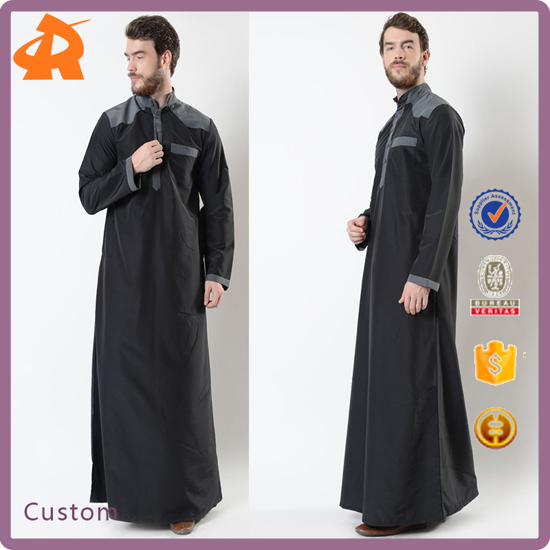 New Muslim Clothes Islamic Clothing Men's Abaya 2017 Latest Dubai Abaya Wholesale