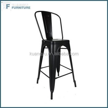 Vintage Chaise De Bar Haute Tabouret En Metal Replique