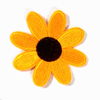 new arrival Yellow Sunflower Embroidered Applique for clothes decoration florwers patches